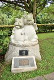Singapore - October 28, 2018: sculpture representing the zodiacal sign of the pig in Chinese calendar royalty free stock photo