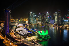 SINGAPORE - 29 October:The Top view of the Marina Bay Royalty Free Stock Photography