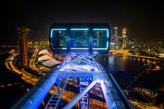 SINGAPORE - 29 October:The Top view of the Marina Bay from Singa Stock Images