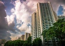 Singapore offentlig bostads- huslägenhet i Senja Royaltyfri Bild