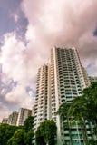 Singapore offentlig bostads- huslägenhet i Senja Royaltyfria Foton