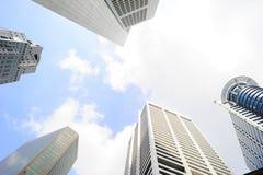 Singapore office buildings Stock Photo