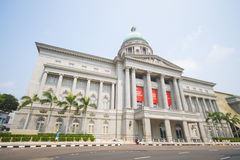 SINGAPORE OKTOBER 13, 2015: Nationell konstgalleribyggnad eller th arkivbilder