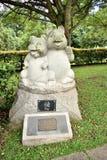 Singapore - Oktober 28, 2018: skulptur som föreställer zodiacaen royaltyfri foto