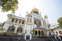 SINGAPORE OKTOBER 12, 2015: Sultan Mosque är den största religien Royaltyfri Bild