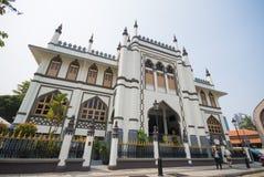 SINGAPORE OKTOBER 12, 2015: Sultan Mosque är den största religien Royaltyfria Foton