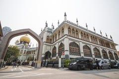 SINGAPORE OKTOBER 12, 2015: Sultan Mosque är den största religien Arkivbild