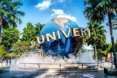 SINGAPORE - OKTOBER, 28 UNIVERSELLA STUDIOR SINGAPORE på Oktober 28,2014 Det är en parkera på semesterortvärlden Sentosa, Singapo Arkivbild