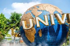 SINGAPORE - OKTOBER, 28 UNIVERSELLA STUDIOR SINGAPORE på Oktober 28,2014 Det är en parkera på semesterortvärlden Sentosa, Singapo Arkivbilder