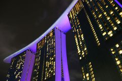 Singapore, Singapore 14 Oktober 2018: Weergeven van Marina Bay Sands Hotel van Marina Bay stock fotografie