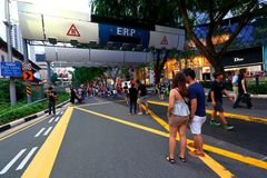Singapore : Orchard Road Royalty Free Stock Photography