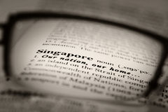 Singapore Our Nation Royalty Free Stock Photo