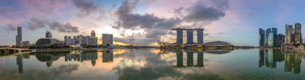 Singapore panorama Arkivbild