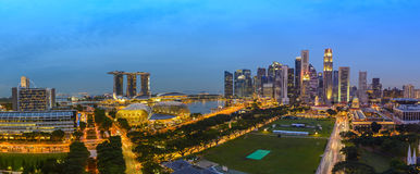 Singapore panorama city skyline Stock Photography