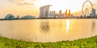 Singapore Panorama Stock Photo