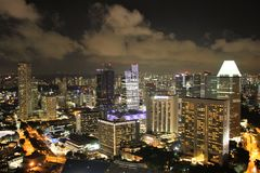 Singapore panorama at night. Stock Images