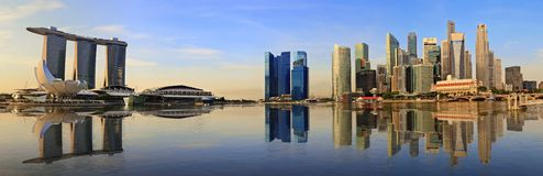 Singapore panorama skyline stock photography