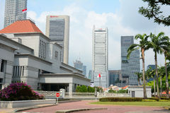 Singapore parlamentbyggnad Arkivfoto