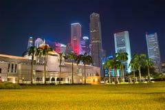 Singapore Parliament building at night Stock Image