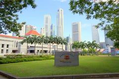 Singapore Parliament buildings stock photos