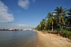 Singapore Paser Ris strand Arkivbilder