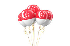 Singapore patriotic balloons holyday concept Royalty Free Stock Image