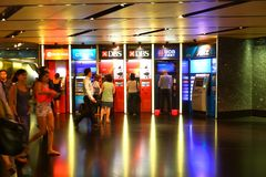 Singapore : People using ATM Stock Images