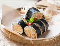 Singapore popiah fresh spring roll Royalty Free Stock Photos