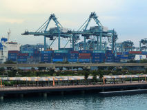 SINGAPORE port Royaltyfri Bild
