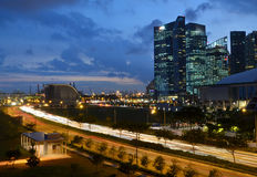 Singapore Port and Business District Stock Photos