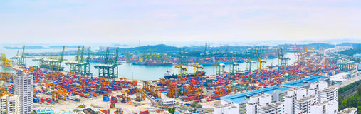 Singapore port overlooking Stock Image