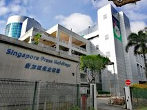 Singapore Press Holdings News Centre Royalty Free Stock Images