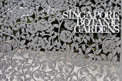 Singapore 29 12 2008 - Primo piano del recinto dell'entrata dei giardini botanici di Singapore Immagine Stock