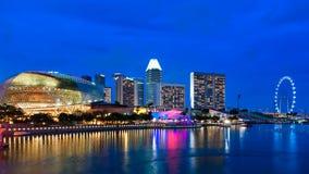 Singapore promenad Arkivfoto