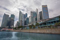 Singapore promenade view Central Business District Stock Photography