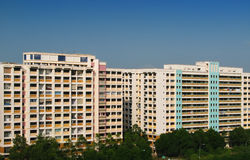 Singapore Public Housing Apartment Royalty Free Stock Photos