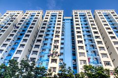 Singapore Public Housing Estate Royalty Free Stock Image