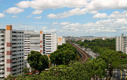 Singapore Public Housing Stock Image