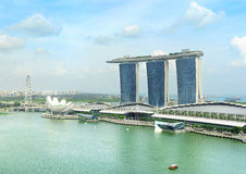 Singapore quayside Royalty Free Stock Images