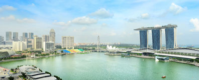 Singapore quayside Royalty Free Stock Photography