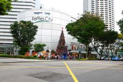 Singapore : Raffles City Stock Photo