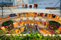 Singapore : Raffles City shopping centre Royalty Free Stock Images