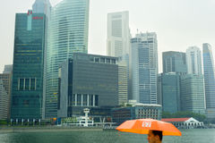 Singapore in the rain Royalty Free Stock Photography