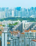 Singapore real estate. Density architecture of living districts of Singapore royalty free stock photo