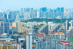 Singapore real estate. Density architecture of living districts of Singapore stock photo