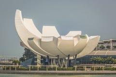Singapore reflection of buildings Marina bay Royalty Free Stock Photo