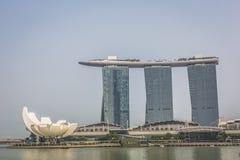 Singapore reflection of buildings Marina bay Stock Image