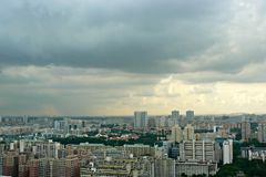 Singapore - regnigt väder royaltyfri fotografi