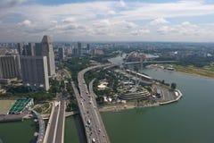 Singapore reklamblad, störst ferrishjul för värld Arkivbilder