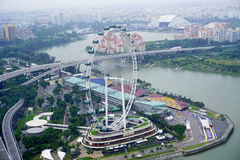 Singapore reklambladsikt i Singapore Arkivbild